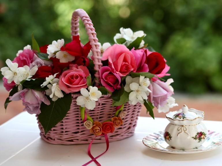 Красивый букет цветов для подруги фото
